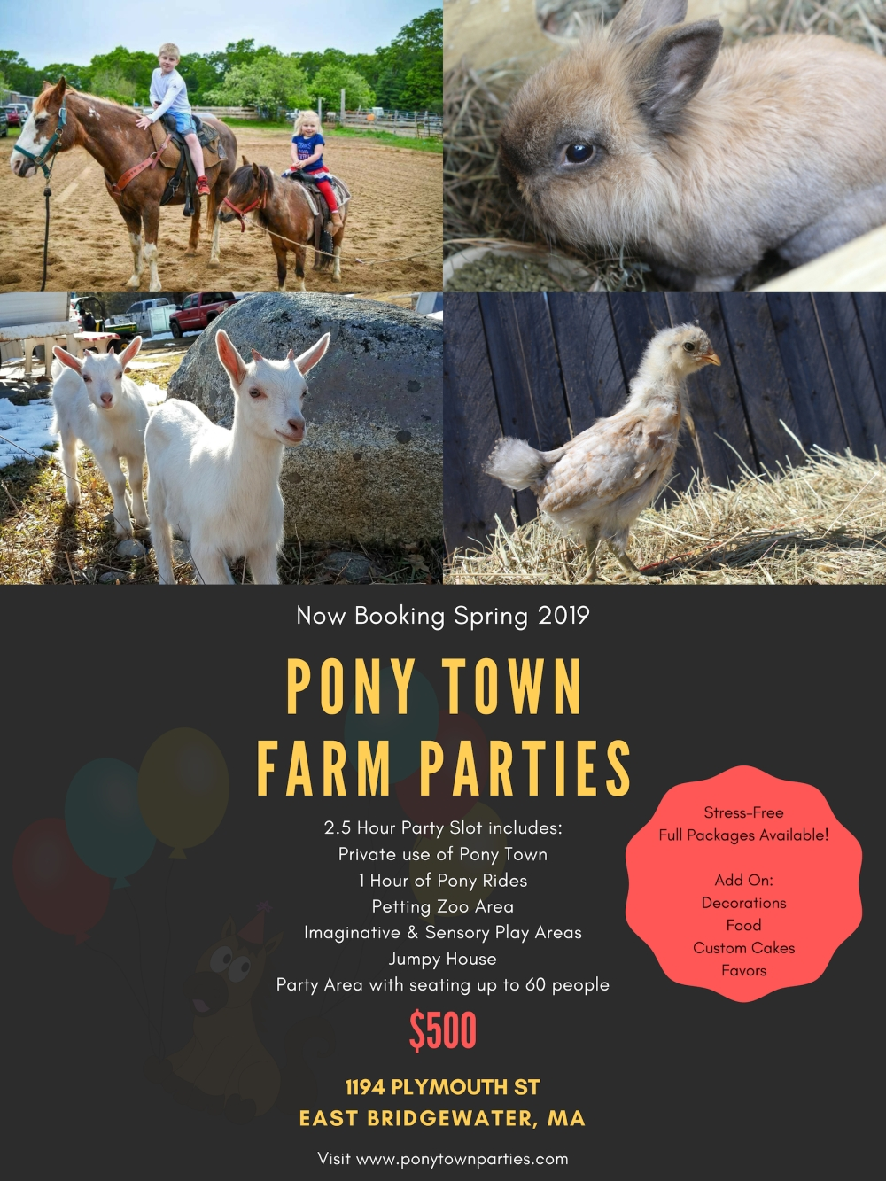 Pony Town Farm Parties