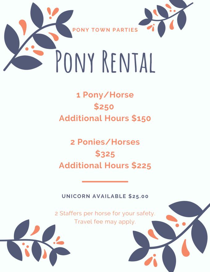 2020 Pony Rental